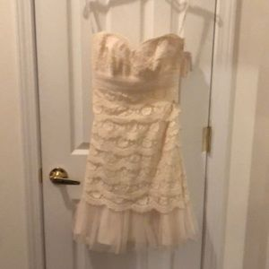 NEW! DB Studio lace and tulle ivory dress size 4